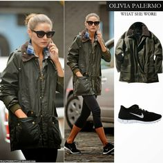 WHAT SHE WORE: Olivia Palermo in Barbour Jacket