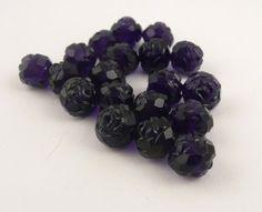 Contemporary Lucite Dark Purple Pressed Roses // by CastoGemstones, $4.50