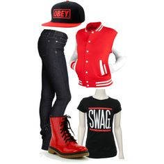 "DREAM HIP HOP OUTFIT ""swag off the market"" by kennedydene on Polyvore"