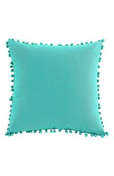 $31.90 18x18 In 3 colors: Storm Grey, Bright White and Bright Teal (pictured), machine wash/tumble dry low. LALA + BASH 'Elodie Pom' Pillow available at #Nordstrom