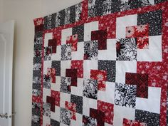 Another Hanky Panky quilt pattern with blacks and reds.  i love this combination of color!!