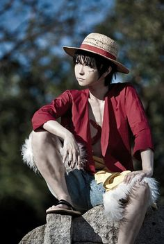 Monkey D. Luffy - One Piece Cosplay Baby Cosplay, Epic Cosplay, Cute Cosplay, Anime Cosplay, Awesome Cosplay, Cool Costumes, Cosplay Costumes, Costume Ideas, Luffy Cosplay