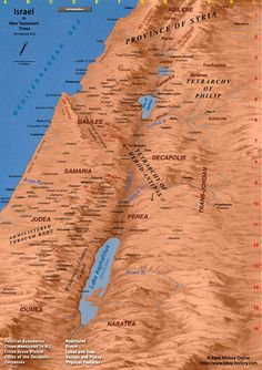 Large Map of New Testament Israel (First Century AD)