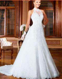 Vestido de renda branco Princess Dresses High Quality Wedding Dress Custom  Made Princess Wedding Dresses 6a7392b888e9