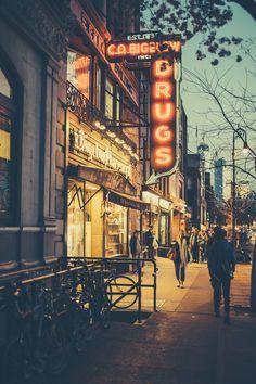 Greenwich Village at dusk