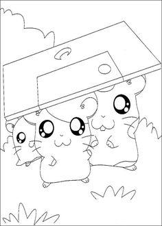 Dibujos para Colorear Hamtaro 24