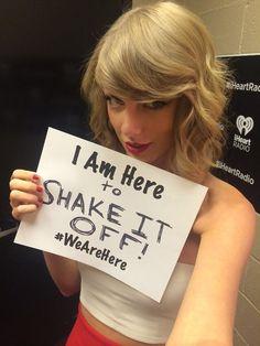 I'm just gonna shake shake shake I shake it off woo!!