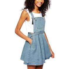 Womens Elegant pocket strap Denim Dress sleeveless casual Overalls dresses female