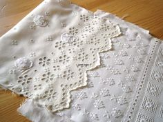 Incredible Hand Stitched Eyelet Cloth - By Contemporary Embroidery Artist Karen Ruane
