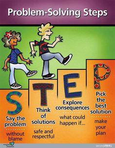 Image result for second step problem solving poster
