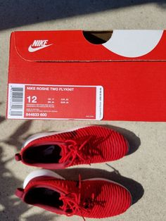 9349a96bf08 Nike Roshe Two Flyknit University Red Team Red-White Men s Size 12 US 844833