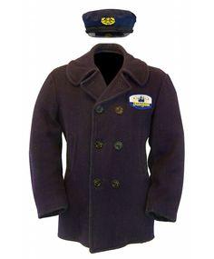 Original Submarine Voyage castmember peacoat and skipper's hat.