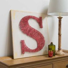 Contemporary String Art Letter