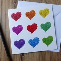 Rainbow Hearts Greeting Card