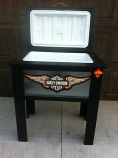 This Harley Davidson Cooler is awesome,  get yours @ www.icechestunlimited.com