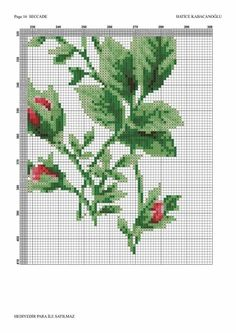 Cross Stitch Flowers, Embroidery Stitches, Cross Stitch Embroidery, Floral, Towel, Hand Crafts, Quilt Blocks, Patrones, Napkins