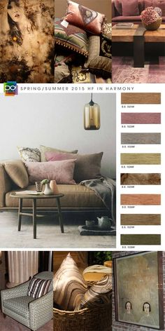love the dusty shades: Spring Summer 2015, home Furnishing and Interiors color trend report, In Harmony