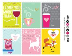 """The day of love is just around the corner and what better way to show your affection than with sugary sweet valentines? Whether you're treating your girlfriends to a cup of coffee or letting your sweetie know you care, find the perfect way to say """"I love you!"""" this Valentine's Day with our free printables!"""