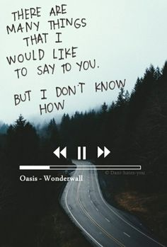 oasis, wonderwall, and Lyrics Bild