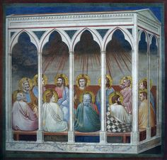 Giotto, Scenes from the Life of Christ: Pentecost, 1304-06, fresco, Cappella Scrovegni (Arena Chapel), Padua