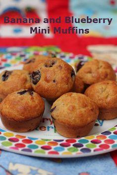 Banana and Blueberry Mini Muffins
