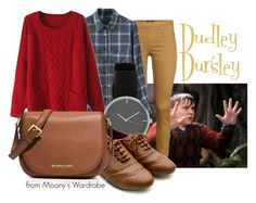 """Dudley Dursley"" by evalupin ❤ liked on Polyvore featuring moda, H&M, Chicnova Fashion, Ollio, MICHAEL Michael Kors, harrypotter, dudleydursley, dursleys y dudley"