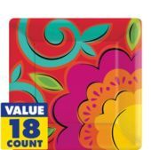 Fiesta Caliente Square Dessert Plates 18ct - Tableware Themes - Cinco de Mayo - Holiday Parties - Categories - Party City