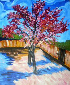 van gogh : peach trees in bloom