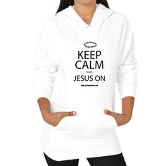 Keep Calm And Jesus On Women's Hoodie