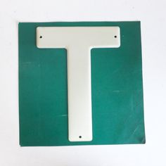 Vintage highway letter T sign 3M Scotchlite Reflective metal by trendybindi on Etsy, $15.00