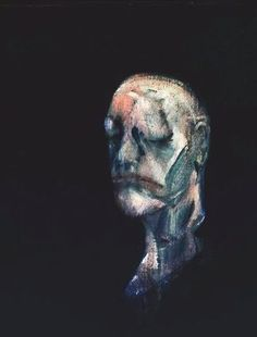 """Francis Bacon: Study for Portrait II (after the Life Mask of William Blake), 1955 - oil on canvas (Tate) """"This is one of a series based on the life mask of poet and painter William Blake. Bacon first. Francis Bacon, William Blake, Michel Leiris, George Grosz, Getty Museum, Art Uk, Magritte, Kandinsky, Pablo Picasso"""