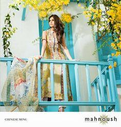 olxfashion: Mahnoush Latest Lawn Dress Collection 2014 For Wom...