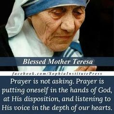 Blessed Mother Teresa had a way with words