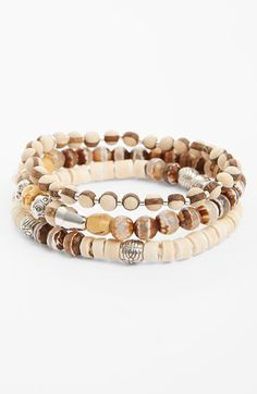 Chan Luu Beaded Stretch Bracelets (Set of 3) available at #Nordstrom
