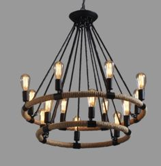 Large Industrial Farmhouse Ceiling Lamp Chandelier Lighting Pendant Cafe Kitchen
