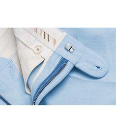 Spodnie męskie lniane Light Blue - Benevento