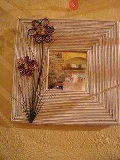 cornice con cannucce di carta