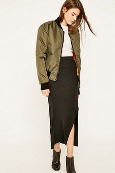 Urban Renewal Vintage Surplus MA1 Olive Bomber Jacket