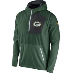 Nike Men's Green Bay Packers Sideline 2016 Vapor Speed Fly Rush Green Jacket…