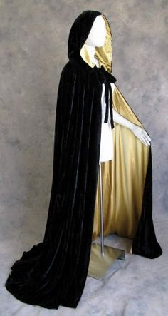 Men/'s Cape Inspired by EYES WIDE SHUT Full Circle Black Cloak Capelet Deep Hood