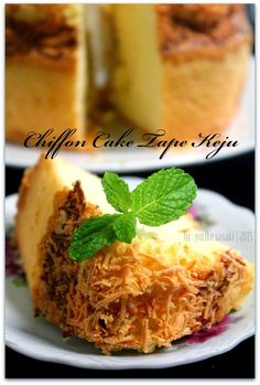 Dapoer Joglo: Chiffon Cake Tape Keju Resep Sponge Cake, Resep Cake, Food N, Food And Drink, Brownie Cake, Brownies, Asian Cake, Sponge Cake Recipes, Bread Cake