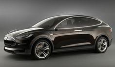 2014 tesla model X electric SUV at NAIAS