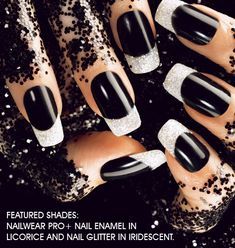 These Halloween nails are festive but still wearable to the office!