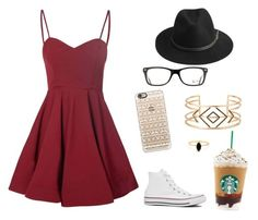 """""""Casual"""" by mackenzietrombetta on Polyvore featuring Glamorous, BeckSöndergaard, Ray-Ban, Casetify, Converse, Stella & Dot and Bing Bang"""
