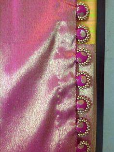 Saree tassels Saree Tassels Designs, Saree Kuchu Designs, Sari Blouse Designs, Designer Blouse Patterns, Aari Embroidery, Hand Embroidery Videos, Ribbon Jewelry, Kids Frocks Design, Elegant Saree
