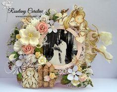 me and my craft corner : Standing Wedding Frame for I Am Roses Challenge Blog