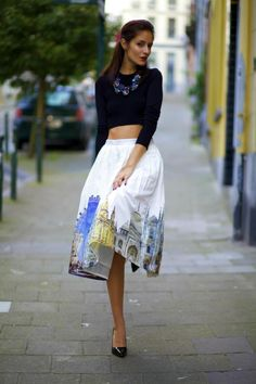 From Brussels, with love ♥: Sightseeing skirt