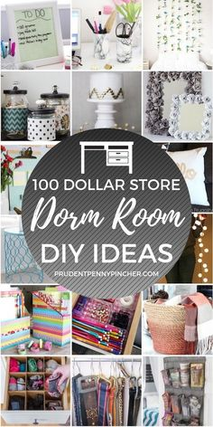 100 DIY Dollar Store Dorm Room Ideas - Cheap DIY: Organization and Storage Ideas. - Dorm Room İdeas - Home Decor