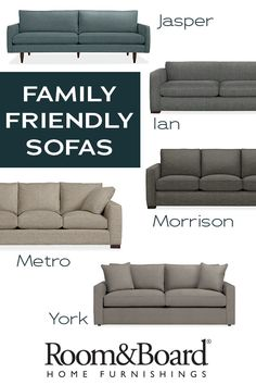 Enjoy the look and feel of soft, cozy fabrics with exceptional performance. Kids are no match for these timeless inviting sofa options that resist stains, rips and tears.