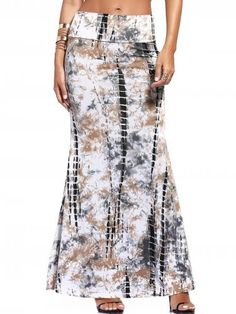 Prezzi e Sconti: #Ethnic style tie-dyed maxi skirt for women  ad Euro 14.09 in #Women #Moda